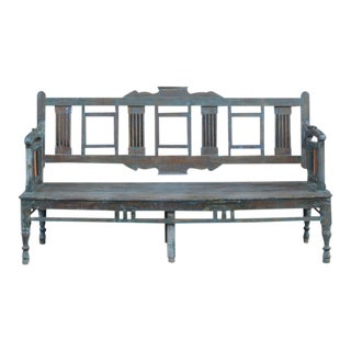 Antique Blue Swing Bench For Sale