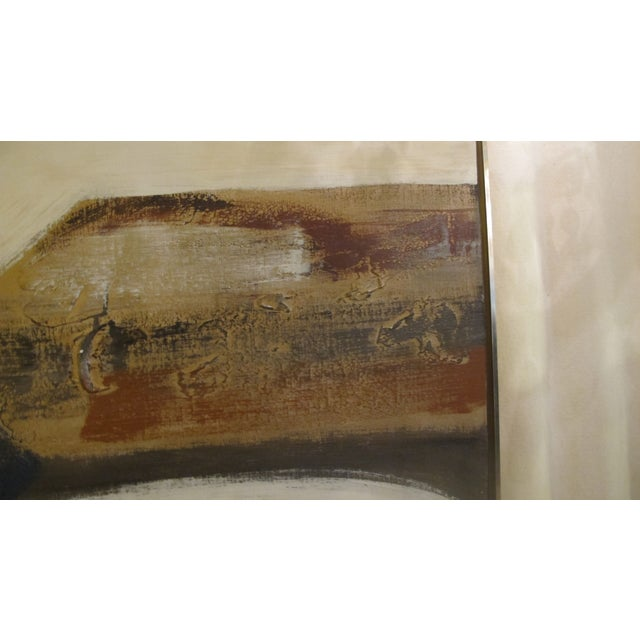 1970s Listed Artist Lee Reynolds Abstract Painting For Sale In Los Angeles - Image 6 of 6