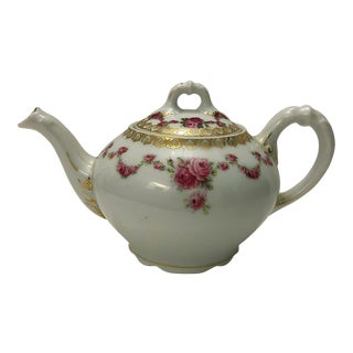 Royal Schwarzburg Vintage China Teapot For Sale