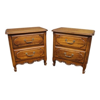 Louis XV Style Fruitwood Nightstands- a Pair For Sale