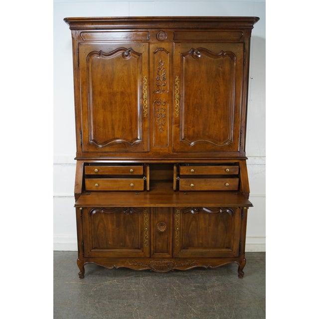 Henredon French Louis XV Style Secretary Desk - Image 7 of 10
