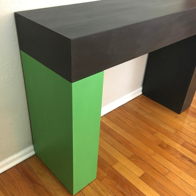 2010s Modern Color Blocked Console Table For Sale - Image 5 of 7