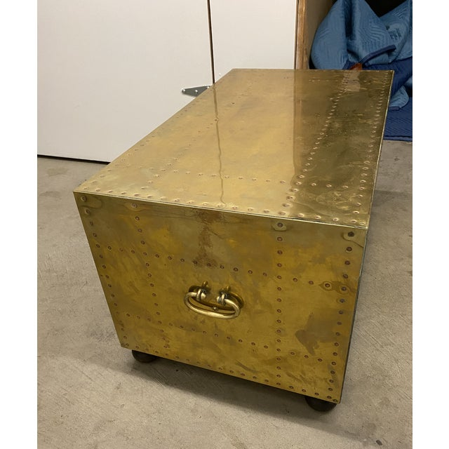 Gold Chest of Drawers Cocktail Table For Sale In Seattle - Image 6 of 9