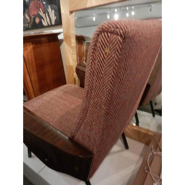 Metal Mid-Century Osvaldo Borsani Model D72 Club Chair For Sale - Image 7 of 10