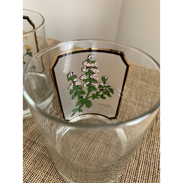 1950s Vintage Culver 'Thyme & Parsley' Old Fashion Glasses - a Pair For Sale - Image 9 of 12