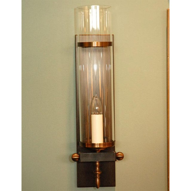 Modern Paul Marra Design Traditional Hurricane Sconces - a Pair For Sale - Image 3 of 7