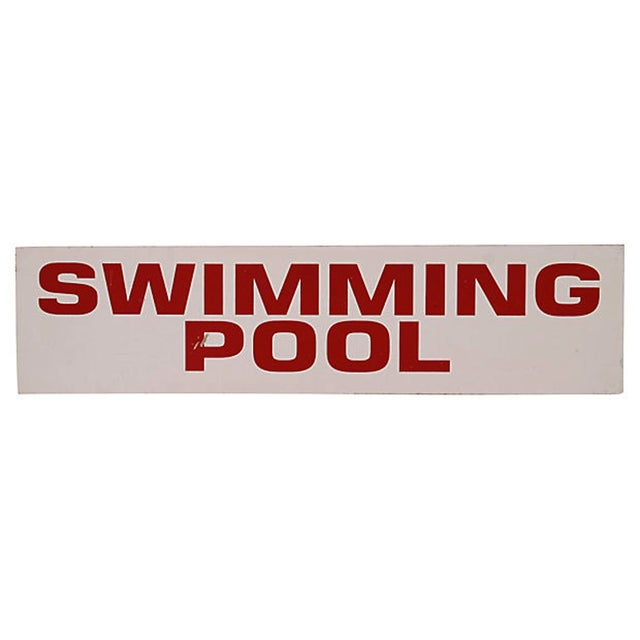 Vintage Swimming Pool Sign - Image 2 of 2