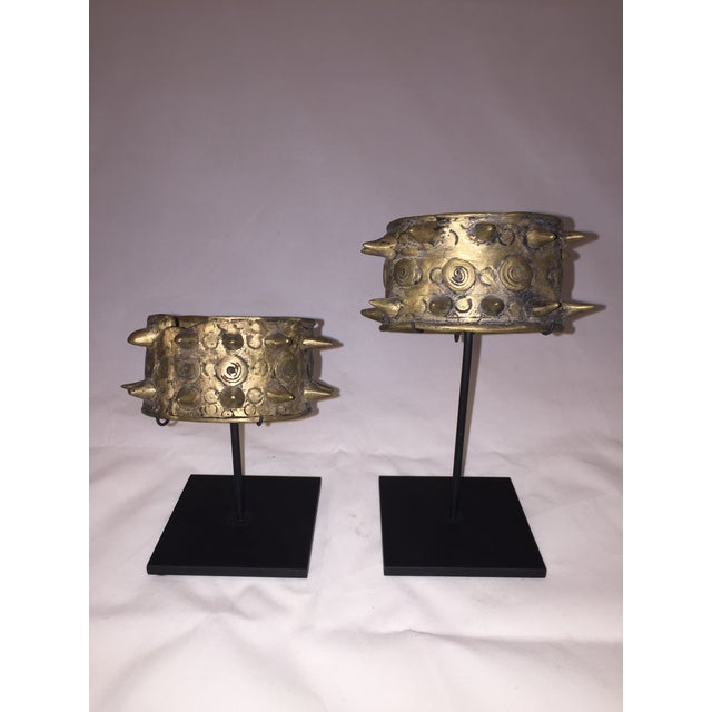 Mounted Brass Spiked Cuffs - a Pair For Sale In Chicago - Image 6 of 6