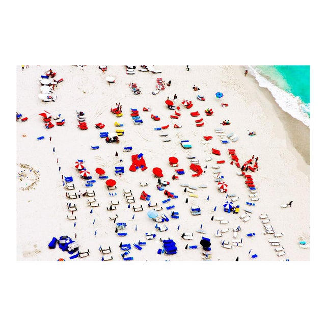 """Cheryl Maeder """"South Beach Red and Blue"""" Archival Photographic Watercolor Print For Sale"""