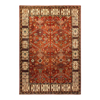 One-Of-A-Kind Oriental Serapi Hand-Knotted Area Rug, Crimson, 8' 8 X 12' 5 For Sale
