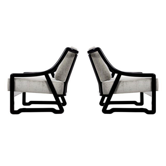 Pair of Paul Laszlo Attributed Lounge Chairs For Sale - Image 10 of 10
