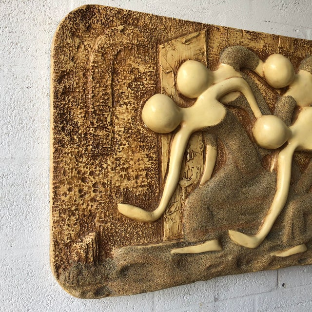 Finesse Originals Large Vintage Mid Century Modern Brutalist Finesse Originals Fiberglass Wall Hanging Sculpture For Sale - Image 4 of 13