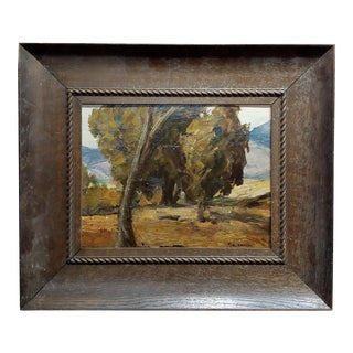 Theodore J. Richardson -California Live Oak - Oil Painting -C1900 For Sale