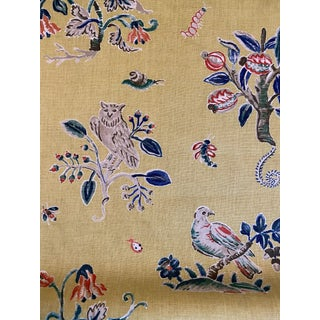 Magical Menagerie Linen Fabric by Schumacher 4.5 Yards For Sale