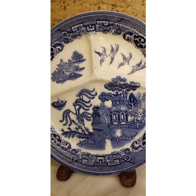 Unusual plate divided into 3 sections and extra thick. Rare Maastricht piece. Beautiful bright colors. I purchased a well...