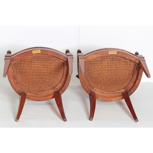 Pair of Italian Neoclassical Armchairs For Sale - Image 12 of 13