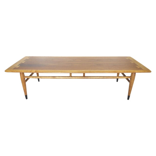 Mid-Century Ash and Walnut Coffee Table by Lane - Image 1 of 9