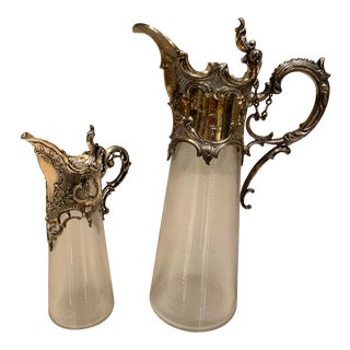 1870s Victorian Sterling Silver Serving Set - 2 Pieces For Sale
