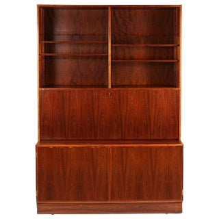 1970s Danish Palisander Rosewood Desk Unit For Sale