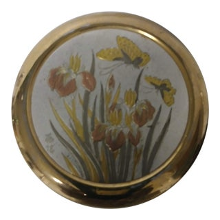 1960s Japanese Chokin Gold Trinket Box For Sale