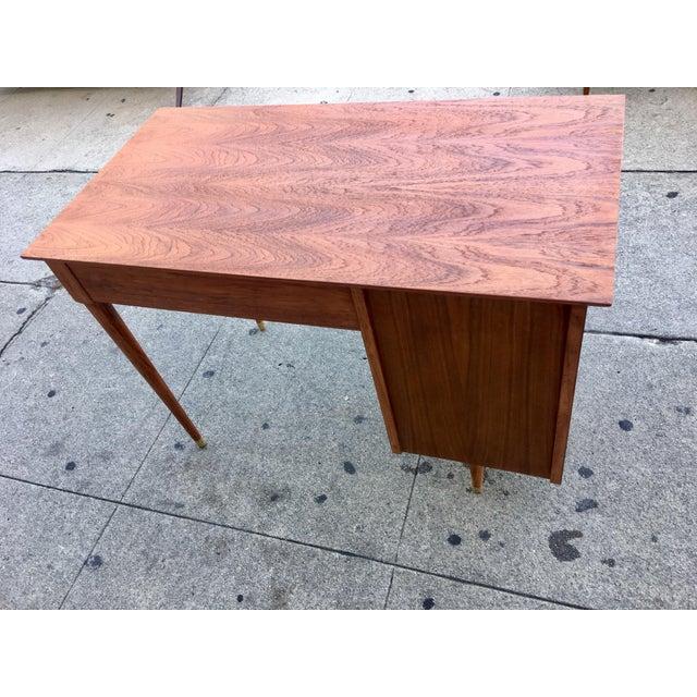 Vintage Mid-Century Wood Desk - Image 3 of 9
