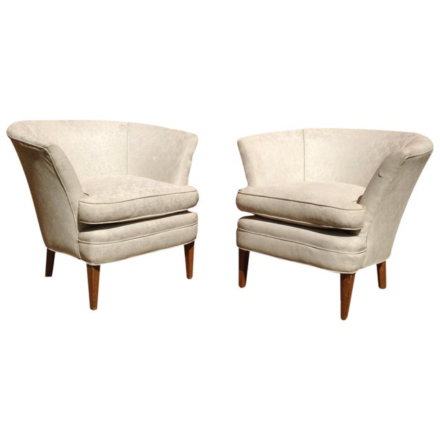 1960's Burbank Home Bespoke Arm Chairs - Pair - Image 1 of 3