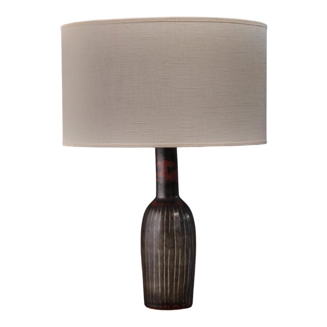 Carl-Harry Stalhane Ceramic Table Lamp For Sale