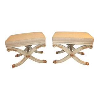 Pair of X-Form Benches For Sale