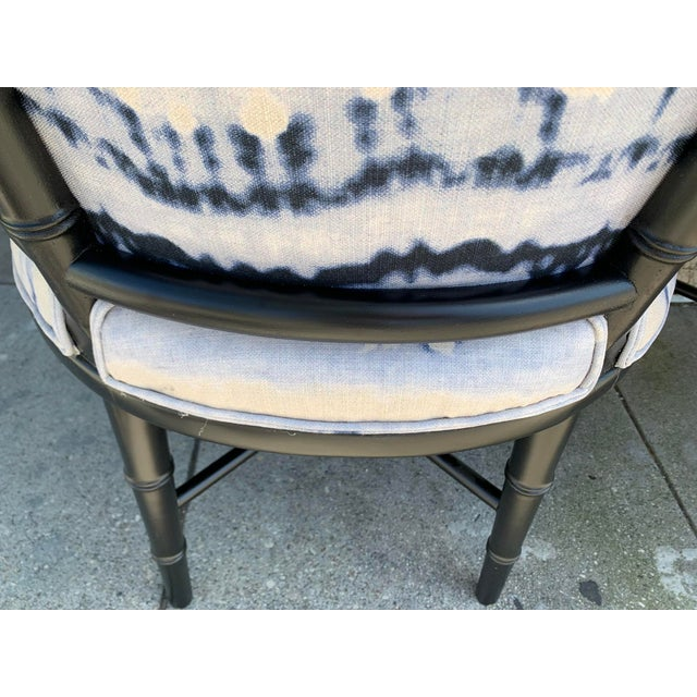 Mid-Century Faux Bamboo Side Chairs - a Pair For Sale - Image 9 of 10