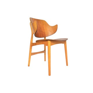 Jens Hjorth Model 307 Teak + Oak Side Chair For Sale