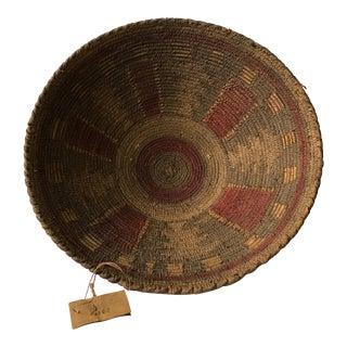 Large Antique African Basket For Sale