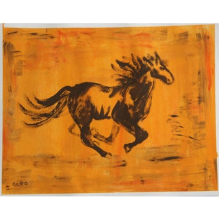 Minimalist Horse Painting by Cleo Plowden For Sale
