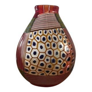 1990s Glass Vase by Robin MIX For Sale