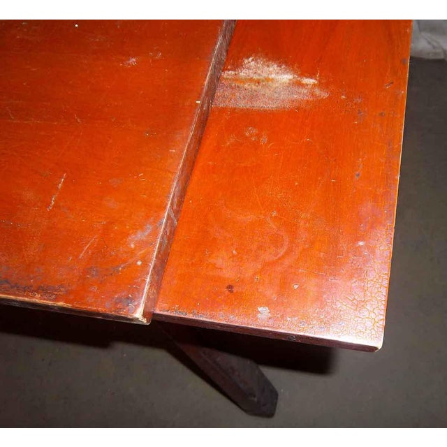 Distressed Adjustable Dining Table For Sale - Image 5 of 5