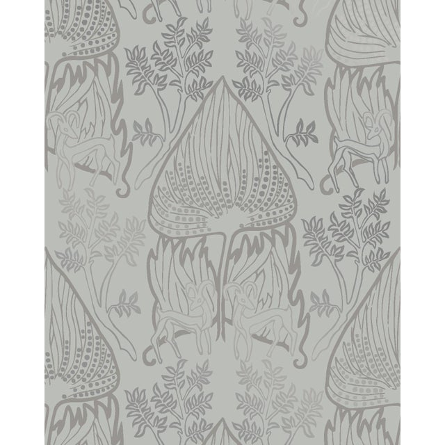 Arabian Nights Gray Wallpaper - 1 Double Roll For Sale - Image 4 of 4