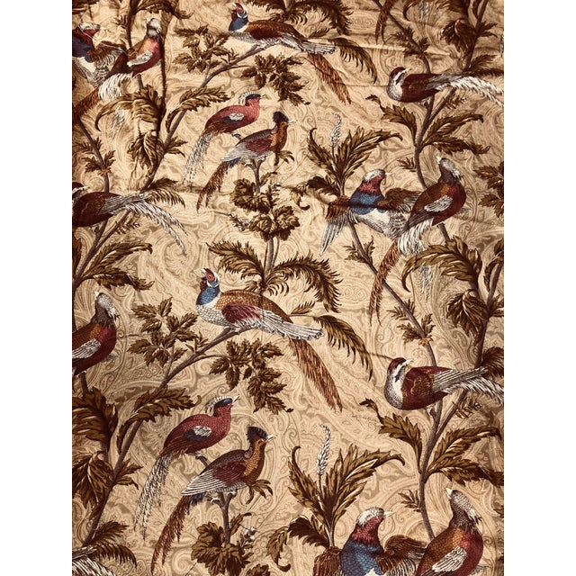 Textile Feathered Birds in Trees a Braemore Design Screen Fabric For Sale - Image 7 of 7