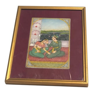 Antique Hindu Woman and Man Ceremonial Artwork For Sale