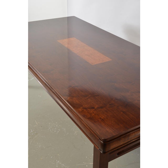 Bespoke Art Deco Style Walnut Extending Dining Table For Sale - Image 10 of 12