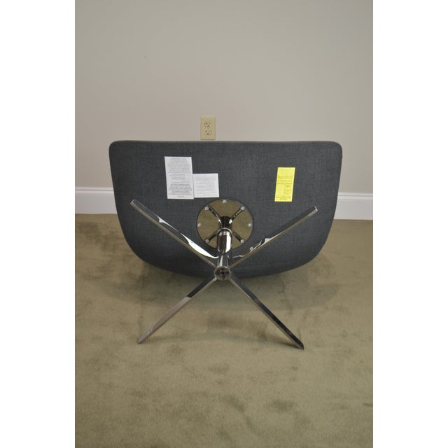 Monica Forster for Bernhardt Pair of Chrome Base Swivel Vika Lounge Chairs For Sale - Image 9 of 13