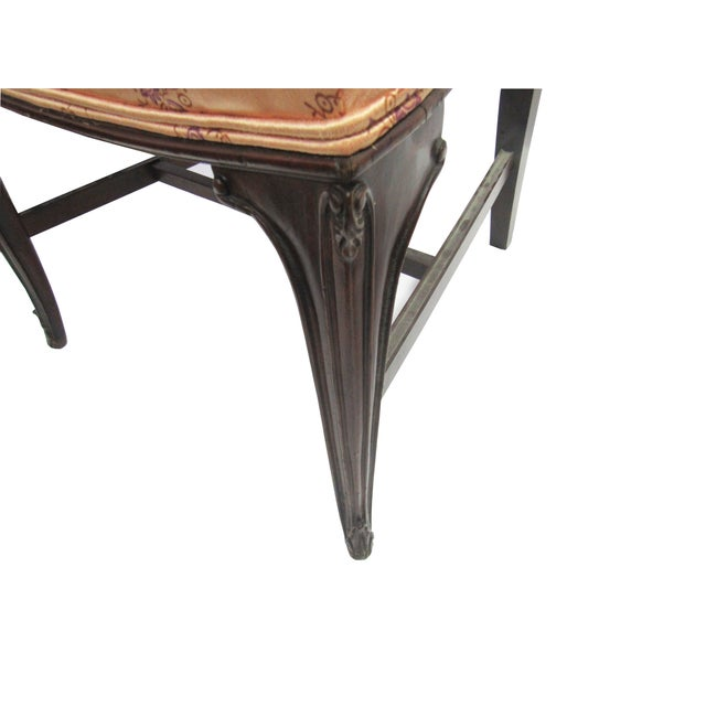 Vintage Hollywood Regency Carved Vanity Bench - Image 2 of 5
