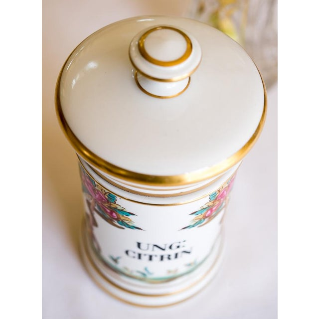 Early 1900s French Porcelain Apothecary Jar - Image 4 of 6