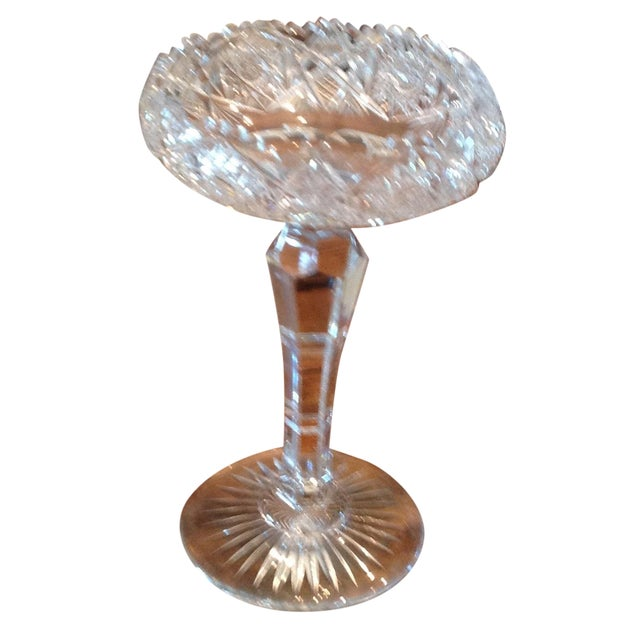 American Brilliant Cut Glass Compote - Image 1 of 6