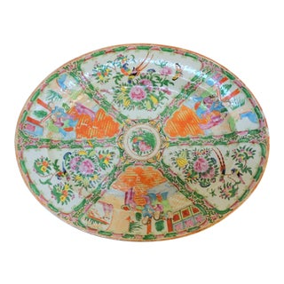 Antique Rose Medallion Platter For Sale