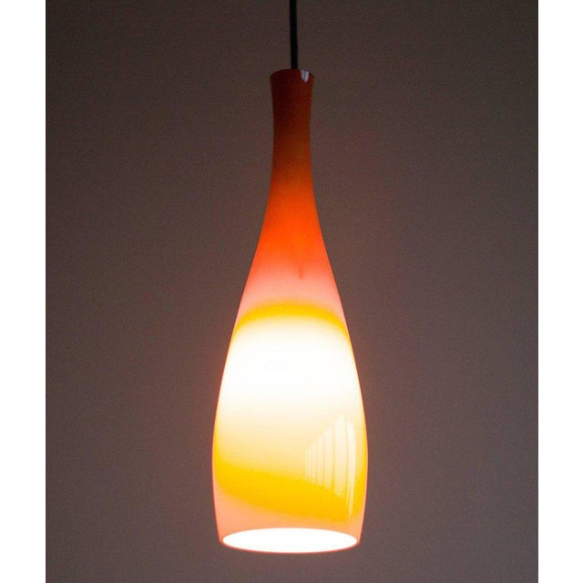 Contemporary Danish 1960s Jacob Bang Glass Pendant For Sale - Image 3 of 6