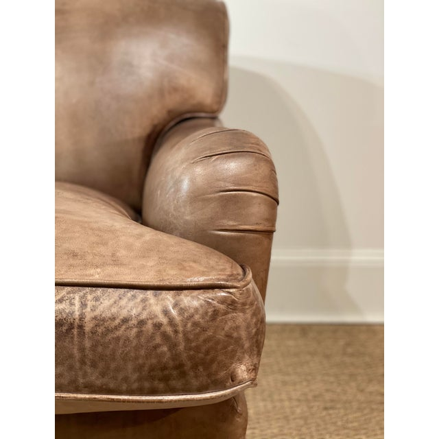 Leather George Smith Leather Sofa For Sale - Image 7 of 12