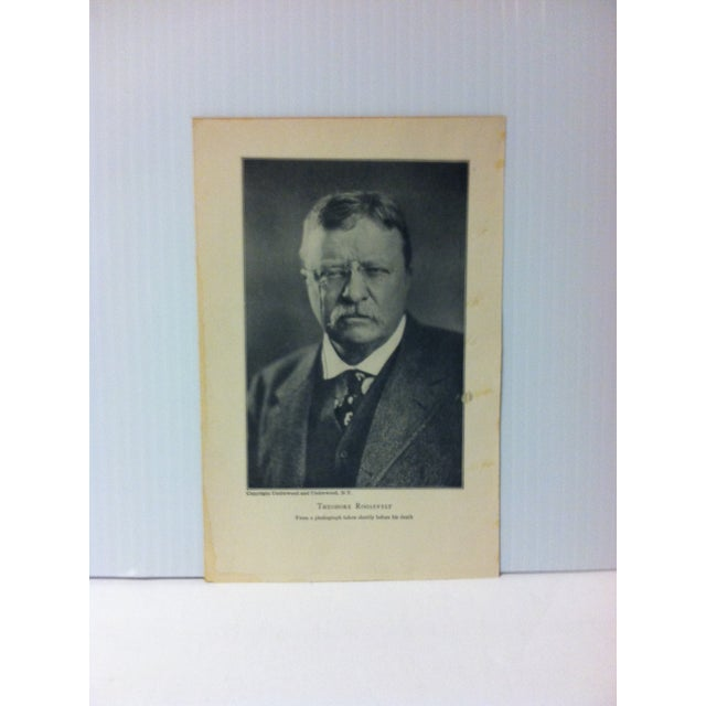 """1919 """"Theodore Roosevelt"""" Theodore Roosevelt Print on Paper For Sale - Image 4 of 4"""