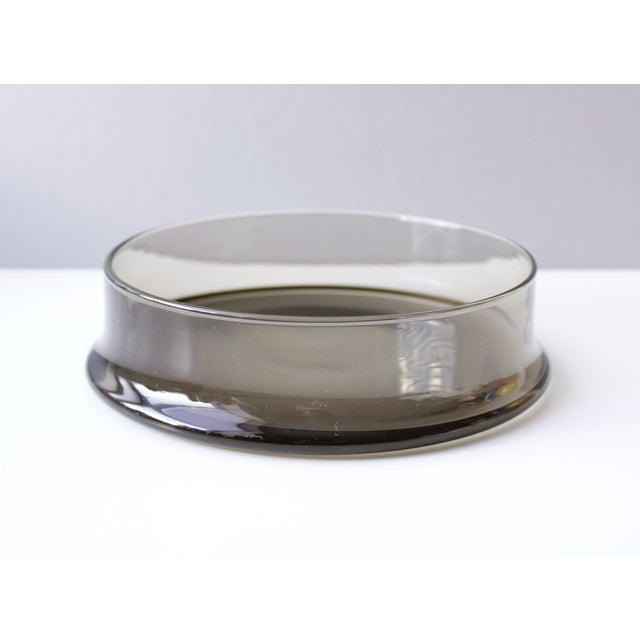 Mid Century Colony Smoke Glass Cheese Dome For Sale - Image 5 of 6
