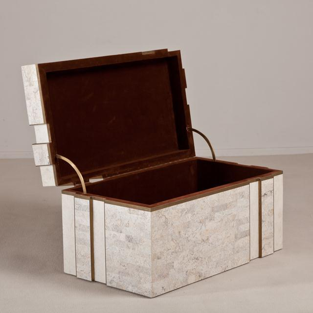 Maitland - Smith A Superb Rare Tessellated Stone Robert Marcius Chest 1980s For Sale - Image 4 of 6