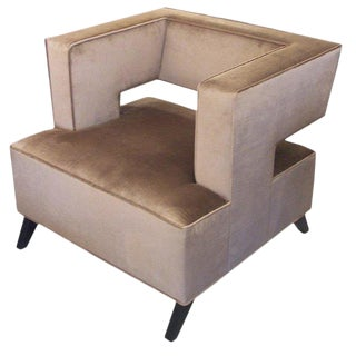 """cubist"" Lounge Chair For Sale"