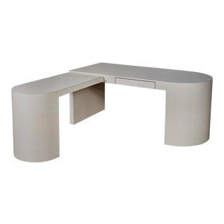 """1980s Formica """"L"""" Shaped Desk For Sale"""